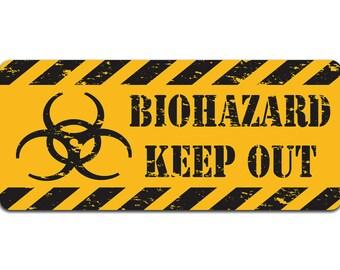 Biohazard: Keep Out |metal Sign | Vintage Effect