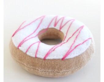 Felt Doughnut - Felt Food - Pink Doughnut - Pretend Food - Play Food - Play Food Doughnut - Felt Donut - Play Food Donut