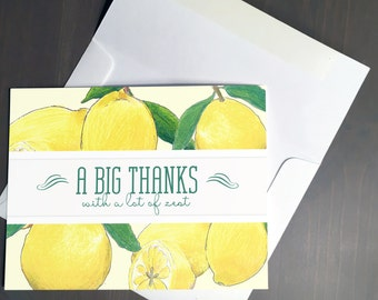 Thank You Card, Lemons