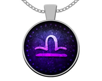 Libra Zodiac Necklace - Libra Astrological Sign Pendant Charm Gift - Libra Astrology Constellation Horoscope Jewelry for Women