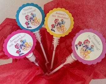 My Little Pony Birthday Party Favors Bubbles BUBBLE WANDS set of 12
