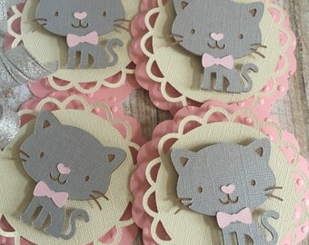 Kitten Tags - Baby Shower - Cupcake Toppers