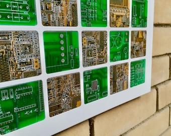 Circuit Board Mosaic Wall Art