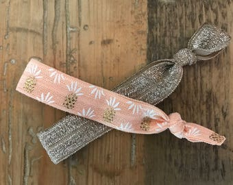 Pineapple hair ties - IvF gifts, infertility, pineapple, infertility gift, TTC gift, TTC hair ties, IVF gift, pineapple gift, pregnancy