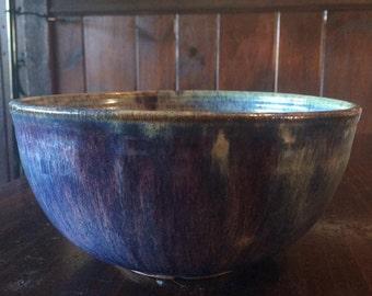 Ceramic Serving Bowl - serving, purple, unique gift