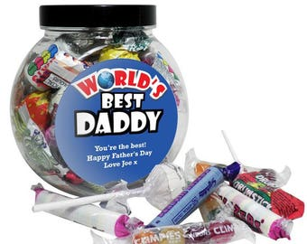 Personalised Father's Day Jar of Sweets