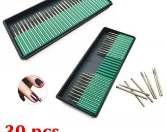 30 Nail Art Electric Drill Bits Replacement Manicure Pedicure Files Kit Set Tool (US ONLY)