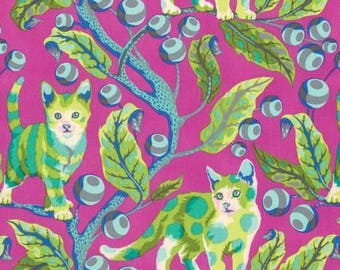 Tula Pink, Tabby Road, Disco Kitty, Berry Bird, 100% Quilting Cotton Fabric, Choose your Cut