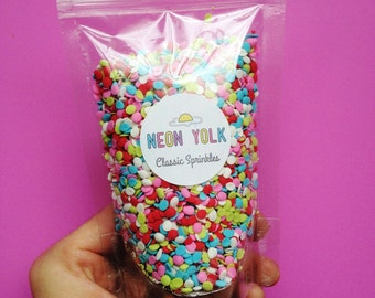 Edible Sprinkles - Lollipop Confetti Quins -   Cake, cookie, cupcake, cakepop sprinkles,  sprinkle mix, 3 oz