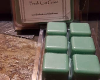 Fresh Cut Grass Soy Wax Melts - Scented Wax- Housewarming Gift - Fresh Cut Grass Candle