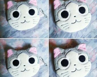Kitty Cat Coin/ID purse Handmade