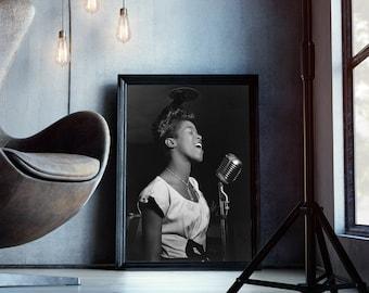 Sarah Vaughan Print, Sarah Vaughan Jazz Singer, Singer Photography, Jazz Wall Decor, Digital Download - 093