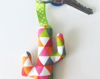 Key ring in fabric cactus
