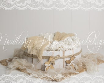Newborn Digital Backdrop (bowl/rabbit/bunny)