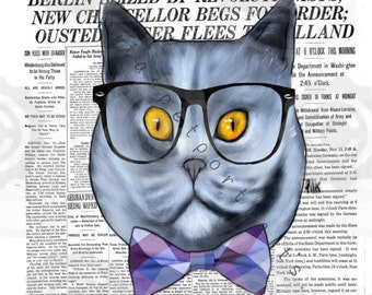 Russian blue Cat art