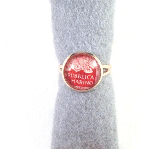 Postage stamp ring
