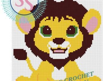 Cute Lion C2C Pattern