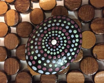 Original one of a kind handpainted mandala stone