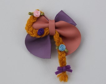 Rapunzel Inspired Disney Bow