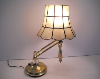 Adjustable Lamp with a Mica Shade