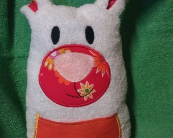 Cuddle Bunny, snuggle Bunny, DekoHase, sewn and embroidered fleece
