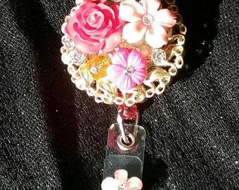 Garden in Bloom Badge Clip by N. Love