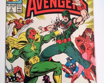 Vintage Comic Books, What If Comic, #5, What If the Vision Had Destroyed the Avengers, Marvel Comics, Vintage Media, Collectibles, Avengers