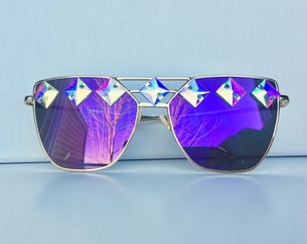 Duochrome Festival Sunglasses  purple