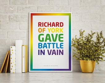 Original rainbow colours rhyme