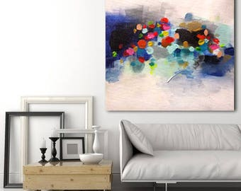 large abstract painting spots of multicolored colors made to order