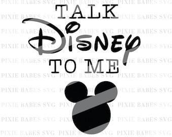 Talk Disney To Me SVG, Disney svg, Mickey SVG, Disney Heartbeat svg, Disney Addict svg, svg ...