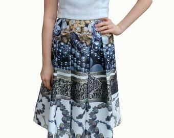 Placed Jewel print skirt