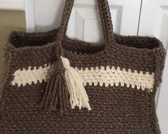 Handmade crocheted Tote Bag