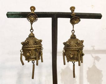 Chinese Chandelier Earrings, Scent Holders, Ca: 1920s.