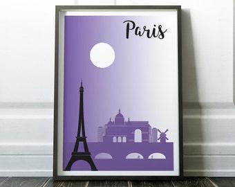 Paris Poster, Paris Print, Paris Art, Travel Wall Art Prints, France Poster, Modern Travel Print, Paris Gift, France Art, Travel Poster, Art