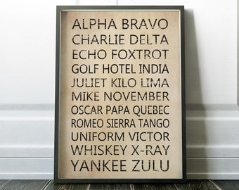 wall art for office. phonetic alphabet print wall art prints office minimalist for