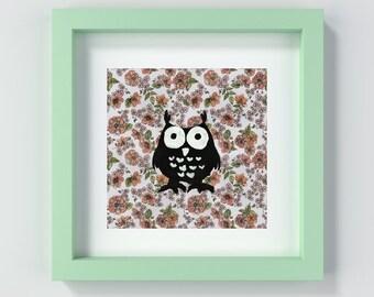 Owl Nursery Print Instant Download, Woodland Animals Nursery Art, Printable Nursery Wall Art, Baby Decor, Printable Owl, Kids Room Art Print