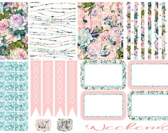 Soft Roses Tiny Kit Planner Stickers