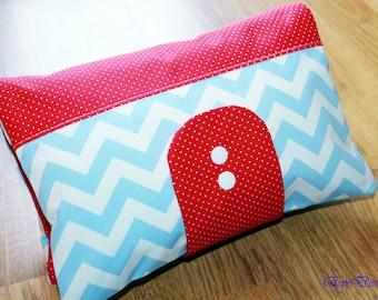 Nappy Wallet (chevron pattern, red, blue)