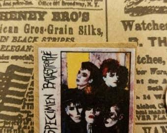 Specimen-Batastrophe album wood band pin