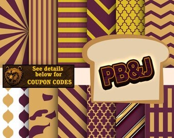 Peanut Butter and Jelly digital paper, digital download, instant download, scrapbook, background