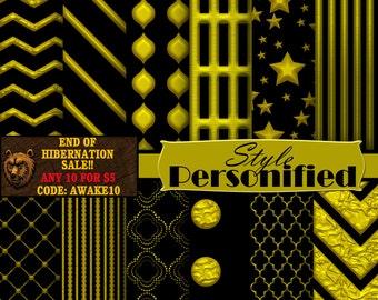 Black and  Gold digital paper, digital download, instant download, background