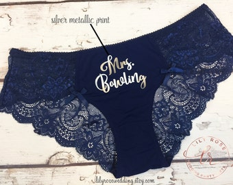 Personalized Panty, Bride Panty, Bridal Shower Gift, Panties, Personalized Panties, Honeymoon, Bachelorette Gift, Bride Gift, Wedding Gift