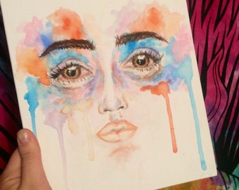 Watercolor face painting