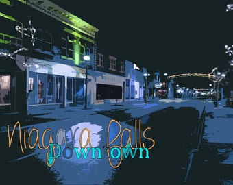 Niagara Falls Downtown Postcard