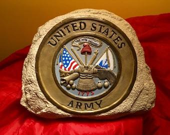 Army Military Stone