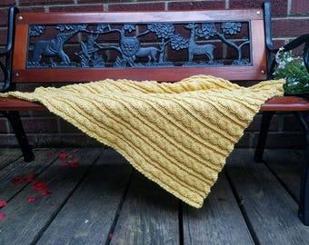 Buttercream Baby Blanket Knit Pattern