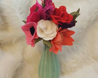 Felt flower bouquet, pink flowers, flower arrangement,  wedding bouquet, felt flower bouquet, bridal bouquet