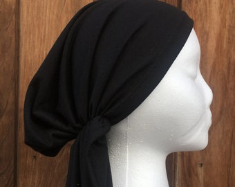 Pretied tichel scarf print hair covering rayon spandex hat beret sinar headband alopecia jewish hijab cotton jersey