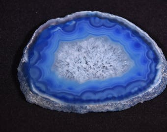 Small Blue Agate Slice, 2.5""